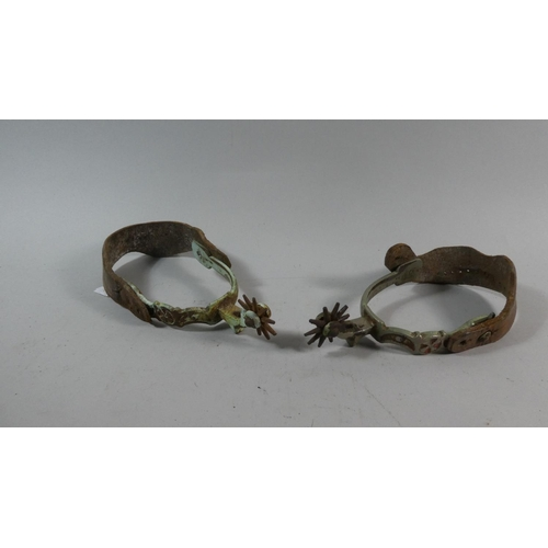 29 - A Pair of Vintage American Riding Spurs...