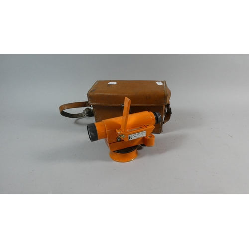 36 - A Leather Cased Quickset CG20 Dumpy Level...