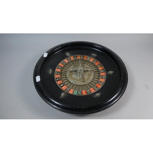 38 - A Mid/Late 20th Century Roulette Wheel, 35cm Diameter...