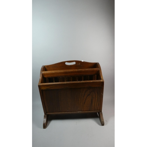 47 - A Mid 20th Century Two Division Magazine Table with Drop Leaf, 45cm Wide...
