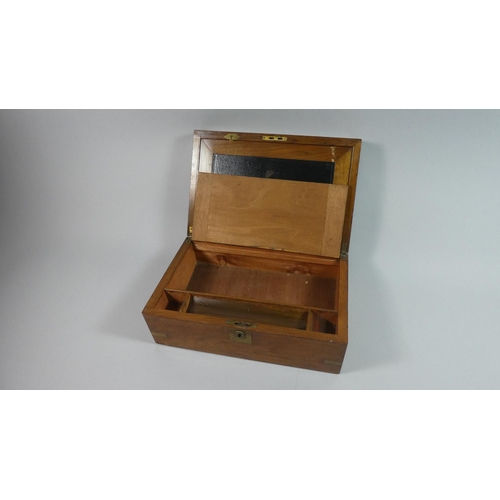 4 - A Brass Mounted Writing Slope for Restoration, 35cms Wide...