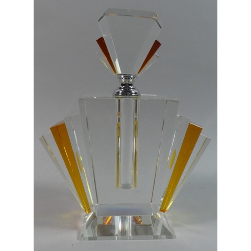 44 - A Modern Art Deco Style Perfume or Scent Bottle, 24cms High...
