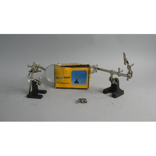 24 - A Modeller's or Clock Makers Magnifying Stand, Helping Hands...