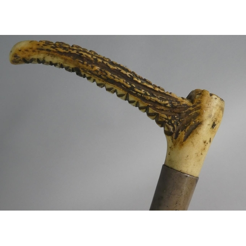 26 - A Brigg Bone Handled Hunting Crop, the Silver Mount Inscribed C Hicks, 49cm Long...