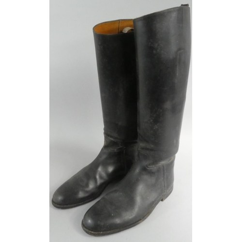 27 - A Pair of Vintage Leather Riding Boots with Modern Sprung Trees...