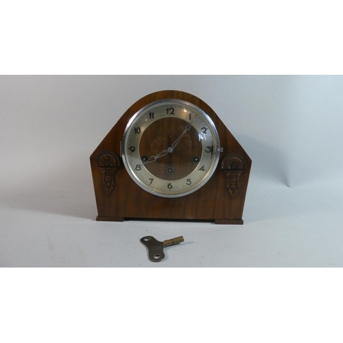 29 - A Westminster Chime Mantle Clock, 27cm Wide...