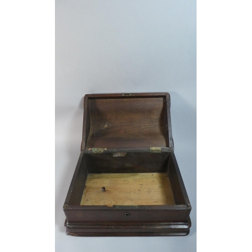 33 - A Mahogany Arched Topped Sewing Machine Box Converted to Work Box, 39.5cm Wide...