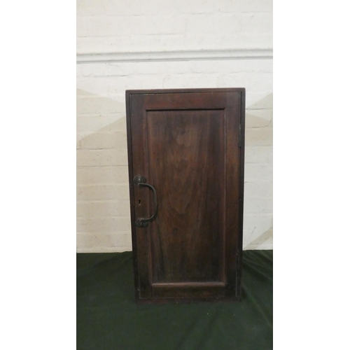34 - A Mahogany Cabinet with Panelled Door, 65.5cm High...