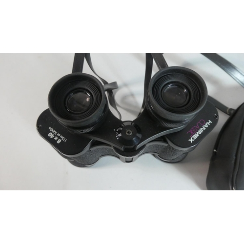 39 - A Pair of Hanimex Classic 8x40 Binoculars with Carrying Case...