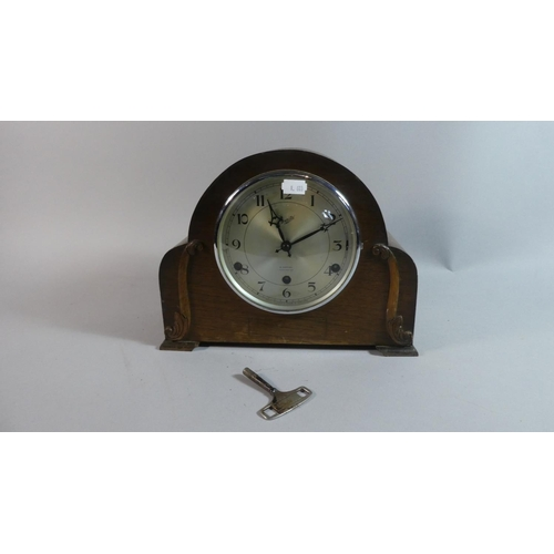 7 - A Mid 20th Century Everite Westminster Chime Mantle Clock, 29cm Wide...
