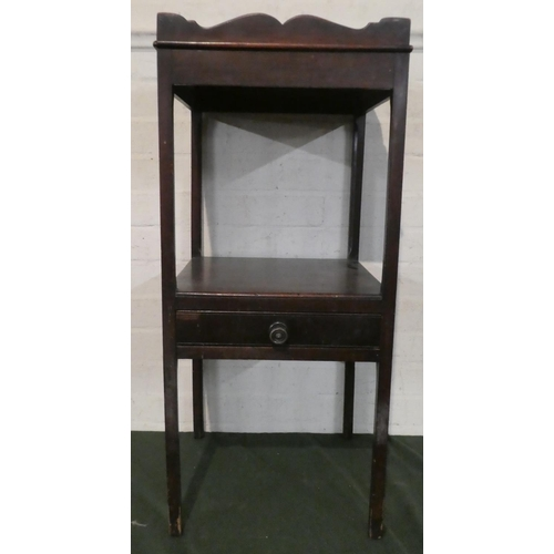 37 - A 19th Century Mahogany Two Tier Galleried Gentleman's Washstand with Centre Drawer, 81cm high...