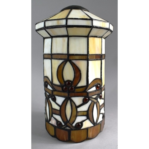 33 - A Reproduction Cylindrical Tiffany Style Lamp Shade, 30cm High...