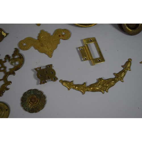 60 - A Collection of 19th Century & Later Brass Drawer Handles Etc....