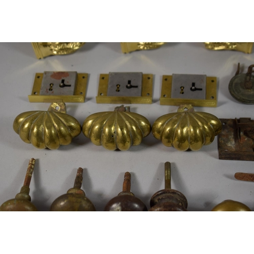 59 - A Collection of Brass and Other Furniture Mounts & Casters, Etc....