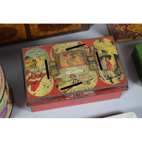58 - A Collection of Seven Vintage Tins etc...