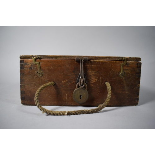 29 - A Vintage Pine Box Containing Various Vintage Tools Etc....