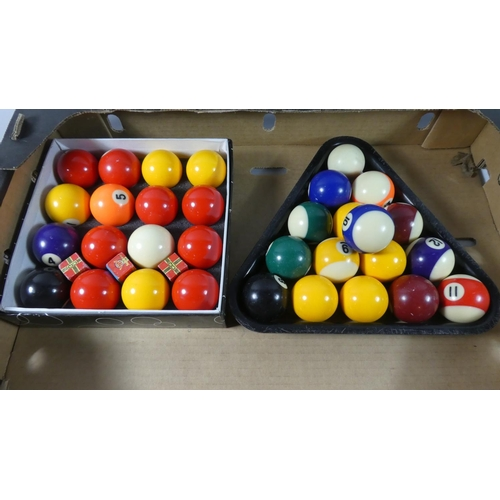 38 - Two Sets of Pool Balls...