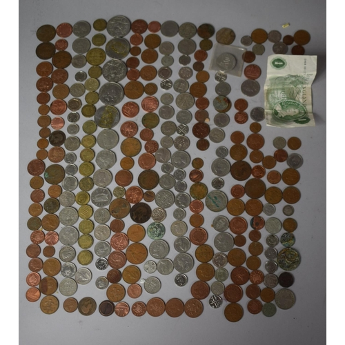 55 - A Collection of 20th Century British and Foreign Coins to include Churchill Crowns Etc....