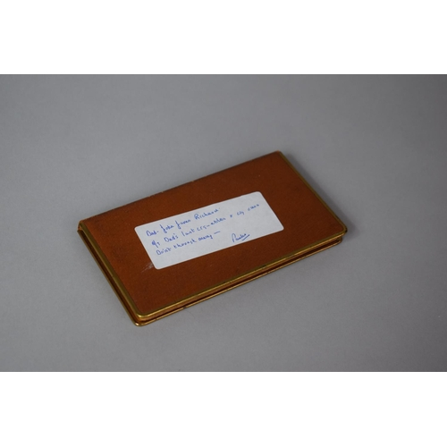 11 - A Pigskin Leather Cigarette Case by Deansgate 4721, Containing Player's Medium Navy Cut Cigarettes...