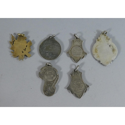 41 - A Collection of Six Early 20th Century Sporting Medals for Rifle Shooting, Cycling Etc. Awarded to V...