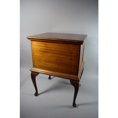 15 - An Edwardian Mahogany Sewing Box with Hinged Lid and with Fitted Removable Tray, 47cms Wide...