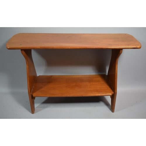 8 - An Edwardian Two Tier Occasional Table Formed from Speedboat Timbers, 76cms Wide...