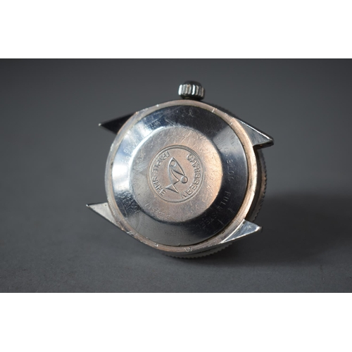 287 - A Vintage Swiss Made Jenny Hi-Swing Caribbean 1500 Gents Wrist Watch, Blue Enamelled Face and Bezel,...