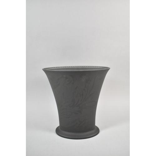 416 - A Modern Wedgwood Interiors Basalt Vase, 24cm high