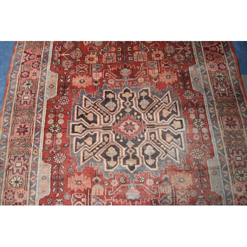 494 - A Persian Handmade Nahavand Rug, 247x151cm...