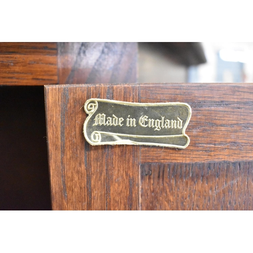 10 - An Old Charm Oak Credence Cupboard, 81cm wide...