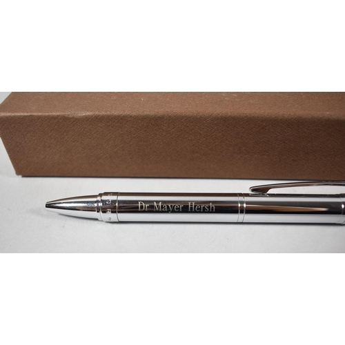 47 - A Boxed Cross Ballpoint Pen, Inscribed Dr. Mayer Hersh...