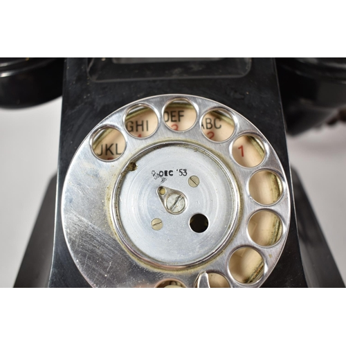 55 - A Vintage Black Bakelite Telephone with Pullout Number Drawer...