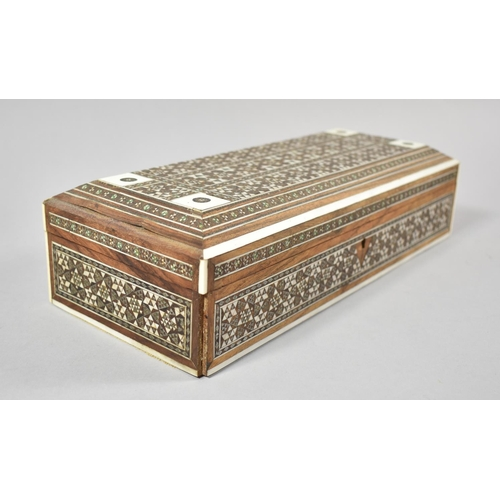 7 - An Indian Visakhapatnam Inlaid Box, 30.5cm wide...