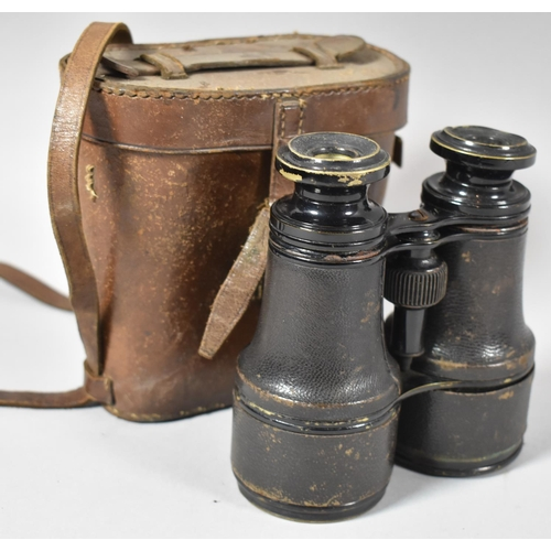 29 - A Pair of Late 19th/Early 20th Century Binoculars in Leather Case...