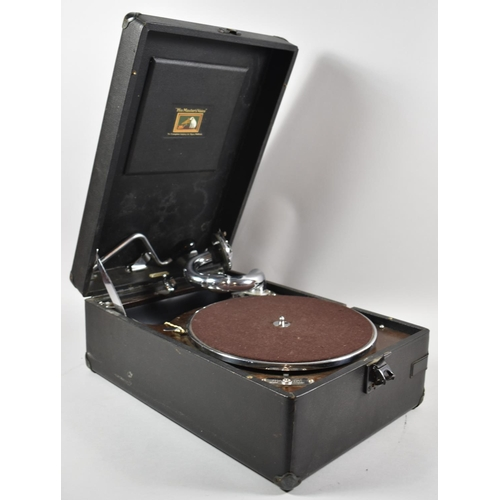 42 - An Edwardian His Master's Voice Wind Up Gramophone, Working Order...