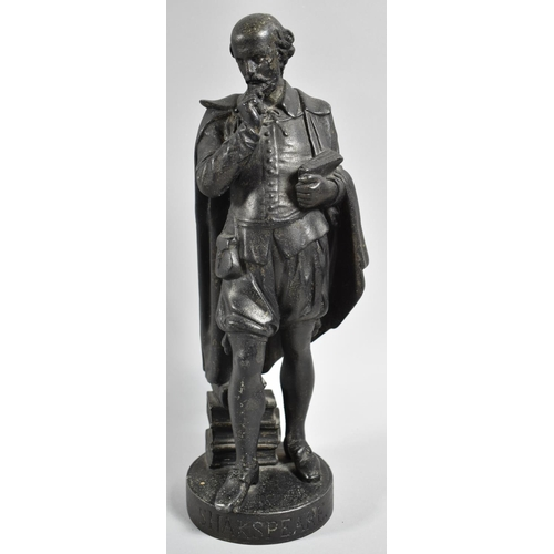 6 - A Cast Spelter Figure of Shakespeare, 31cm high...