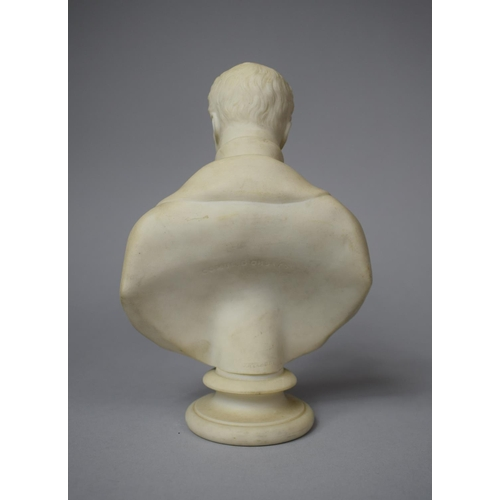 29 - A French Parian Bust of Comte D'Orsay, Who was French Amateur Artist, Dandy and Man of Fashion in th...