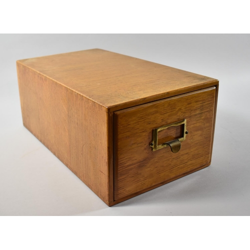 33 - An Edwardian Oak Card Index Filing Box, 41.5cm Long...