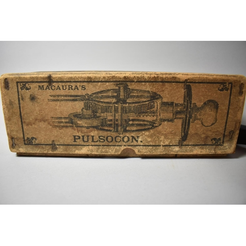 38 - A Vintage Massage Machine, Macaura's Pulsocon in Original Cardboard Box Together with Leather Covere...