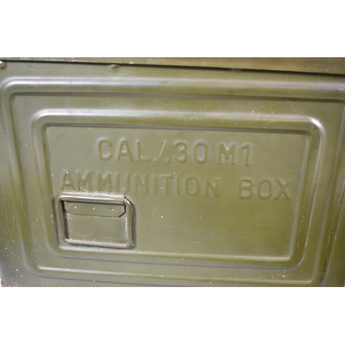 48 - A .350M1 Cal Ammunition Box Containing Spent Machine Gun Belt