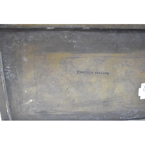10 - A Brass Rectangular Brass Casket Decorated in Relief with Cries of London Scenes, 15.5cm Wide...