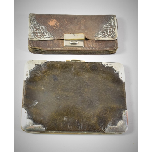 52 - A Silver Mounted Purse, Birmingham 1915, Together with a Silver Mounted Wallet, Birmingham 1896...