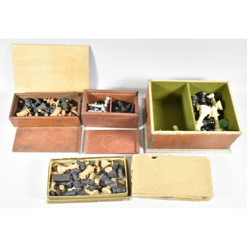 65 - A Collection of Various Chess Pieces to Include One Full Set...