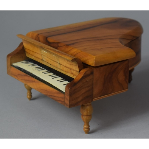 14 - A Novelty Continental Musical Box in the Form of a Grand Piano, Movement Playing Dr. Zhivago, 17cm L...