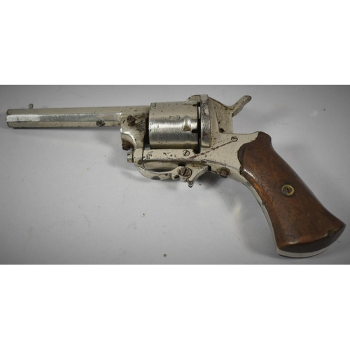 32 - A 19th Century Belgian Rimfire Six Shot Pocket Revolver with Folding Trigger, Belgian Proof Marks...