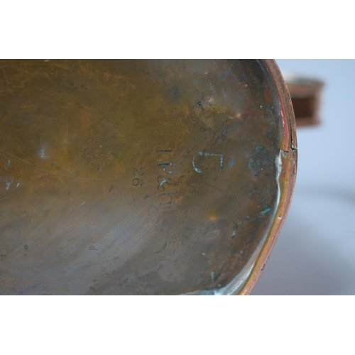 36 - A Late 19th/Early 20th Century Copper Army and Navy Water Jug and Two Brass Planters...