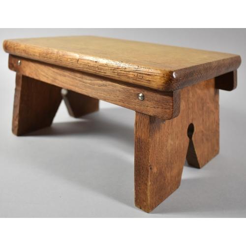 37 - A Small Mid 20th Century Rectangular Oak Stool, 29.5cm x 18.5cm...