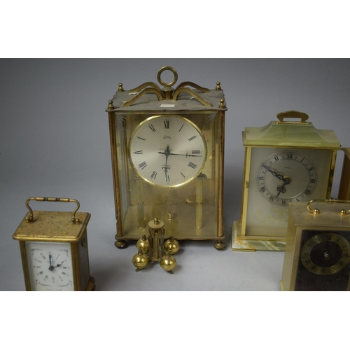 47 - A Collection of Various Mid 20th Century Mantle Clocks, Mainly in Need of Attention...