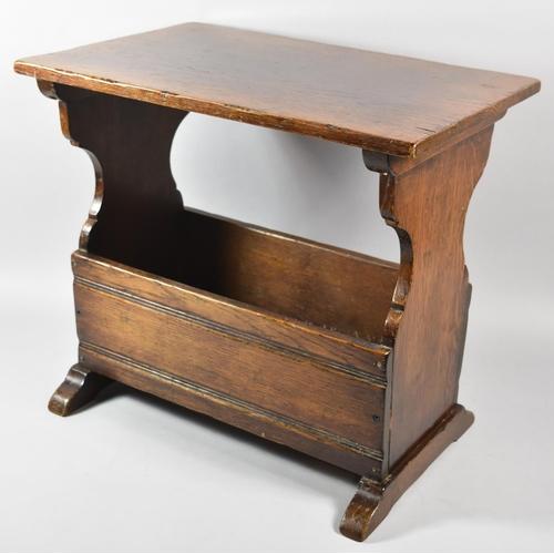 56 - A Mid 20th Century Oak Magazine Table of Rectangular Form, 50.5cm x 34cm...