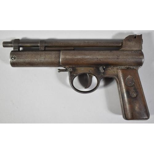 1 - A Vintage Webley & Scott I .177 Calibre Air Pistol, British Patent 219872, Serial No.42645...